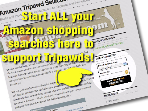 Shop for Anything on Amazon to Support Tripawds!